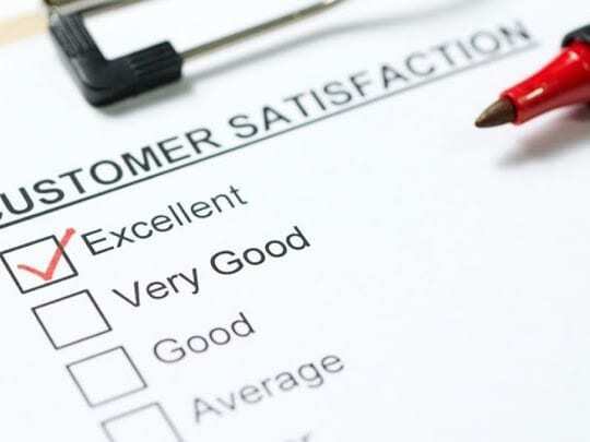 How a website's design is linked to customer satisfaction?